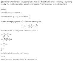 for class 8 maths linear equation