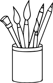 Coloring Pages Coloring Pages Nice Art Supplies Pencils Paint