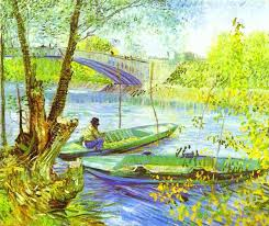 Vincent van Gogh Fishing in Spring painting | framed paintings for sale