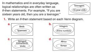 Write A Conditional Statement From The Venn Diagram Lesson 2 2 Macphersons Geometry
