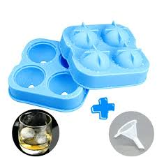 square ice cube maker easy release silicone ice cube trays set of 2 sphere round ice