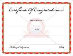 Congratulation Certificate 7 Best Congratulation Certificate Images Resume Examples Sample