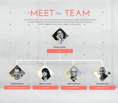 Team Chart Template Small Photographic Organizational Chart Template Visme