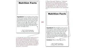 Ingredients Label Template Blank Nutrition Label Template Word Business Document Facts
