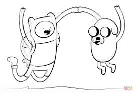 Small Picture Jake and Finn coloring page Free Printable Coloring Pages