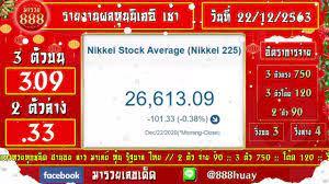 ถ่ายทอดสดผลหุ้นนิเคอิ เช้า งวดวันที่ 22 ธันวาคม 2563 ตรวจผลหุ้นนิเคอิ เช้า  วันนี้ - YouTube