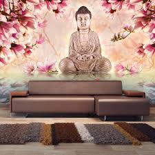 Fotobehang Boeddha En Magnolia Karo Art Vof