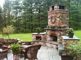 image of outdoor fireplace designs plans