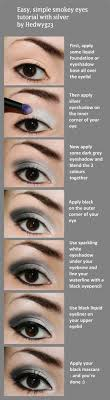 y eye makeup tutorials silver simple smokey eyes easy guides on how to do