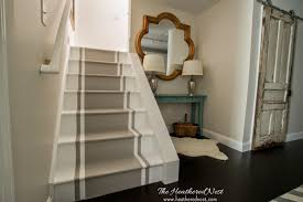 Finished Basement Once Upon Time There Were Walls Flanking Both Sides Of This Stairwell Floor To Ceiling We Knocked One Side Down To Open Up The Space And Make It Feel Blesser House Brightened Up Basement Stairway Reveal Blesser House