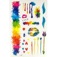 флеш тату цветные акварель стрелы губы сердца купить по лучшей цене Starlook