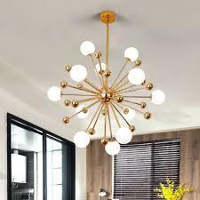 modern simple dandelion gold glass luxury livingroom chandelier lights
