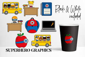 Svgdesigns.com also has a large collection of free svg designs. Back To School Superhero Graphic By Darrakadisha Creative Fabrica In 2020