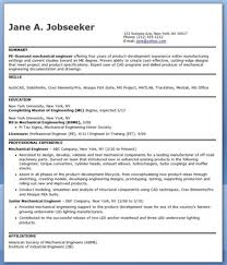 Resume Format For Mechanical Engineering Students Seattlebabyco
