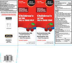 childrens day time cold and cough liquid best choice valu