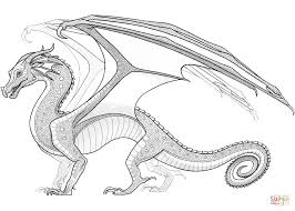 Small Picture Rainwing Dragon from Wings of Fire coloring page Free Printable