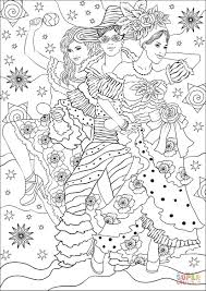 Joyful Carnival Dance Coloring Page Free Printable Coloring Pages