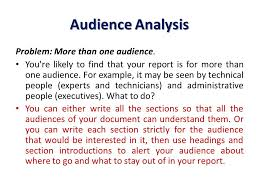 audience analysis example the writing process the writing process takes you from the very