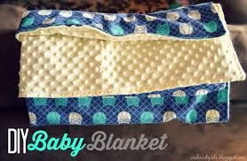 super easy diy baby blanket tutorial with minky and cuddle fabric