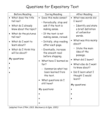 What Is Expository Text Comprehension Expository Text Questions Building Rti