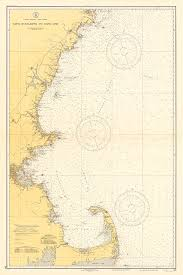 New England Nautical Charts 1935 Nautical Chart Of The New England Coastline My