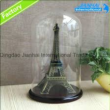whole glass cloche bell jar with wood base display dome bamboo china