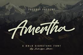 Download 10,000 fonts with one click for $19.95. Amertha Font By Subectype Creative Fabrica