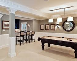 best basement paint colorsSpacious Basement Family Gathering With Light Brown Wall Paint