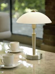 solo touch 1 light table lamp in nickel matt eglo lighting