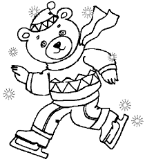 Small Picture Dancink Bear Winter Coloring Pages coloring pages for kids