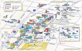 las vegas map  tourist information d new map showing best hotels