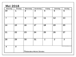 Kalenders Mei 2018 Mz Michel Zbinden Nl