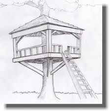 how to draw a treehouse step by step.  Draw With How To Draw A Treehouse Step By W