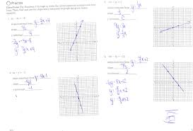 graphing linear equations using slope and intercepts worksheet 1