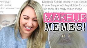 beauty guru reacts to funniest makeup memes