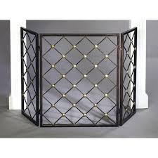 brass fireplace screen redoing an old fireplaces mantels home decor painted furniture makeover
