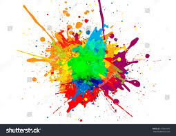 Design Color Abstract Vector Paint Color Design Background Stock Vector