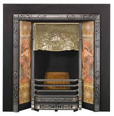 stovax art nouveau tiled insert fireplace