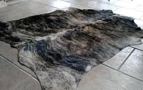 gray cowhide rug image 1 milan