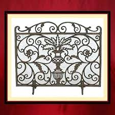 cast iron fireplace screens cast iron single panel screen large cast iron scrollwork fire screen with doors