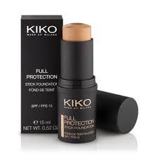kiko make up milano full protection stick foundation spf 15 base de maquillaje multiactiva en barra