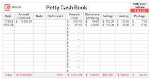petty cash reimbursement template petty cash book for excel fee printable formats templates