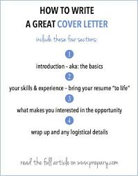Cover Letter Basics How To Write A Cover Letter Career Advice Advice