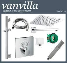 Details About Vanvilla Shower Set Rain Shower With Shower Fittings Hansgrohe Flush Polished Show Original Title