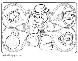 Small Picture Club Penguin Coloring Pages Puffles Print Gekimoe 10809
