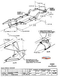 Rear spring hanger sheet 14 00
