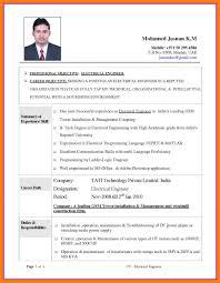 Electrical Engineering Cv Sample Waa Mood Electrical Engineering