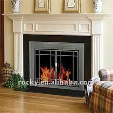 Living Room High Quality Fireplace Doors Screens Design Black Fireplace Doors