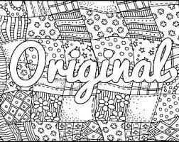 Small Picture Inspired Adult Coloring Page Positive Coloring Page