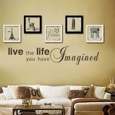 live the life you have imagined life inspirational quote home wall decal sticker art vinyl on live the life you imagined wall art with live the life you have imagined life inspirational quote home wall